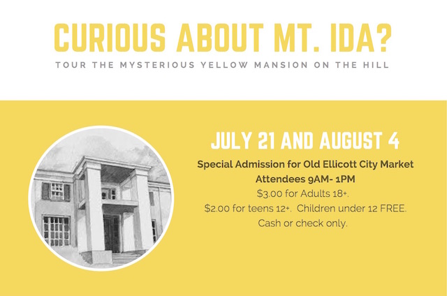 Tour Mt. Ida: a Special Invitation to Old Ellicott City Market Attendees